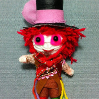 Mad Hatter Alice Johnny Depp String Voodoo Doll Keyring Keychain movie cartoon Key Ring Key Chain handmade funny Bag Car