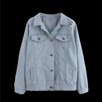 Lightweight Pale Denim Jacket