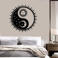 Vinyl Wall Decal Sun Moon Stars Bedroom Home Interior Stickers Unique Gift (650ig)