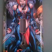 Bloodrayne comic book light switch cover