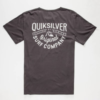 Quiksilver Dyed Midnight Mens T-Shirt Charcoal  In Sizes