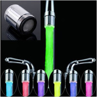 New Fashion LED Water Faucet Stream Light 7 Colors Changing Glow Shower Tap Head Kitchen Pressure Sensor hot selling