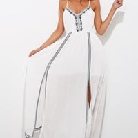 Long Lost Summer Maxi Dress White