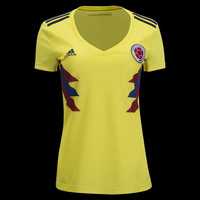 KUYOU Colombia 2018 World Cup Home Women Soccer Jersey Personalized Name and Number