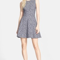 Women's Theory 'Tillora' Boucle Fit & Flare Dress,