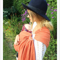 Pure Linen Ring Sling, Spice