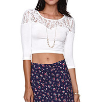 LA Hearts Lace Sweetheart Cropped Top at PacSun.com