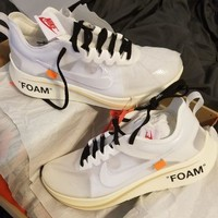 OFF-WHITE x Nike Zoom Fly SP 4% Fashion Running Sneakers Sport Shoes