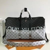 LV Louis Vuitton MONOGRAM CANVAS KEEPALL SHOULDER BAG TRAVEL BAG