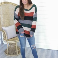 Made For The Midwest Sweater - Forest Green