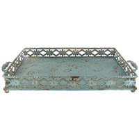 Rustic Metal Tray with Decorative Sides   Shop Hobby Lobby