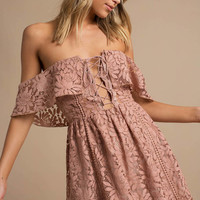 Kinsley Lace Ruffle Skater Dress