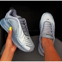 Air Max 720  Nike Fashion Women Men Air Cushion Sport Running Shoes Sneakers Grey