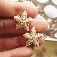 Starfish Pearl Fashion Earrings