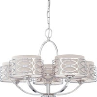 Chandelier in Polished Nickel Finish