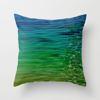 TREBLE SEA Throw Pillow by catspaws | Society6