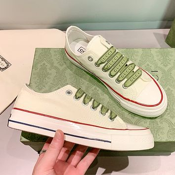 Gucci/CONVERSE Low help small white shoes canvas shoes