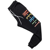 "Merit FATE ""FRIENDS"" Sweatpants - Black"