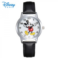 Disney Children Watch Mickey Mouse Fashion Top Brand Men Women Watch Digital Wristwatch Relogio Casual Quartz Leather Watches