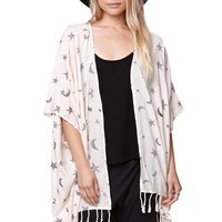 Element Claire Star Kimono - Womens Shirts - White
