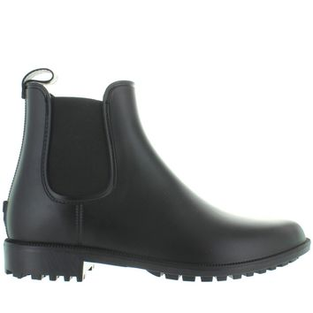 Kixters Jarid - Black Matte Pull-On Rubber Rain Boot