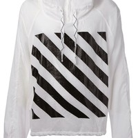Off-White front and rear printed hoodie