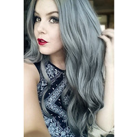Solid Silver Indian Remy Clip In Hair Extensions C035 [C035] - VPfashion.com