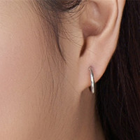 YAN & LEI Hot Sale Sterling Silver Small Endless Hoop Earrings for Cartilage, Nose and Lips, 3/8 Inch (10mm)