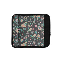 "Nika Martinez ""Cute Winter Floral"" Gray Pastel Luggage Handle Wrap"
