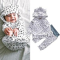 2017 hot Newborn Baby Boys Girls clothing Cotton Long Sleeve Hoodies Tops Clothes + Pants Outfits Set baby Children clothing