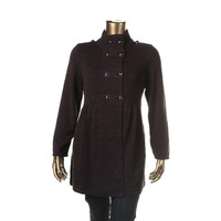 Style & Co. Womens Ribbed Knit Long Sleeves Sweaterdress