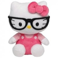 Ty Beanie Baby Hello Kitty Plush - Nerd with Glasses