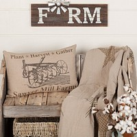 Sawyer Mill Charcoal Plow Pillow