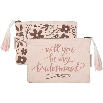 Zipper Pouch - Will you be my Bridesmaid?