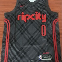Portland Trail Blazers #0 Damian Lillard City Edition Swingman Basketball Jersey