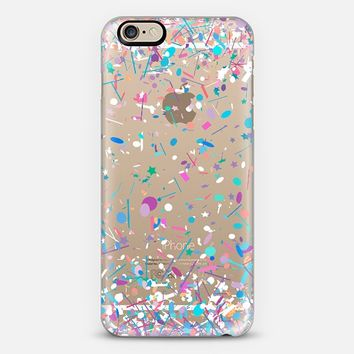 Girly Confetti Explosion Transparent iPhone 6 case by Organic Saturation | Casetify