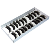 ROMWE | 40 Pairs 4 Styles False Black Long Eyelashes free glue, The Latest Street Fashion