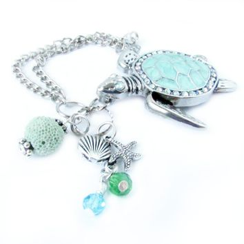 Diffuser Rearview Mirror Car Charm - Sea Turtle Car Charm
