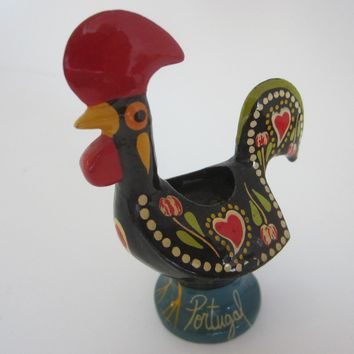 Portugal Traditional Rooster Kitchen Decor Toothpick Holder