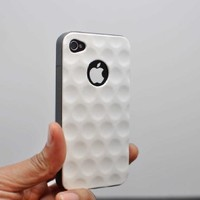 Wydan White Golf Ball Design Glossy Hard Sturdy iPhone 4 4S Case Cover