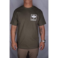 """Defend Hawaii """"All Day"""" Men's Olive T-Shirt"""