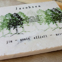Kitchen Trivet Personalized Pine Tree by MyLittleChick on Etsy
