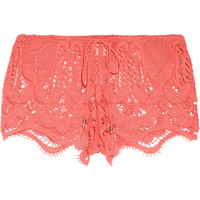Miguelina - Minnie crocheted cotton shorts