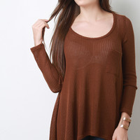Loose Knit Trapeze Sweater Top