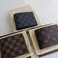 Louis Vuitton LV Fashion Trending Men Leather Handbag Wallet Purse Bag