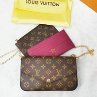 Louis Vuitton LV Shopping Leather Handbag Tote Satchel Leisure Women Shoulder Bag Three-Piece