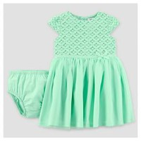 Baby Girls' Mint Print Bow Dress - Just One You™ Made by Carter's®
