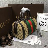 Gucci Gg Ophida Medium Handle Bag H #31