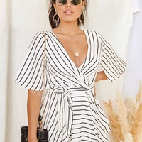 Ophelia Striped Romper