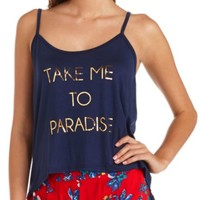 Paradise Graphic Swing Crop Top